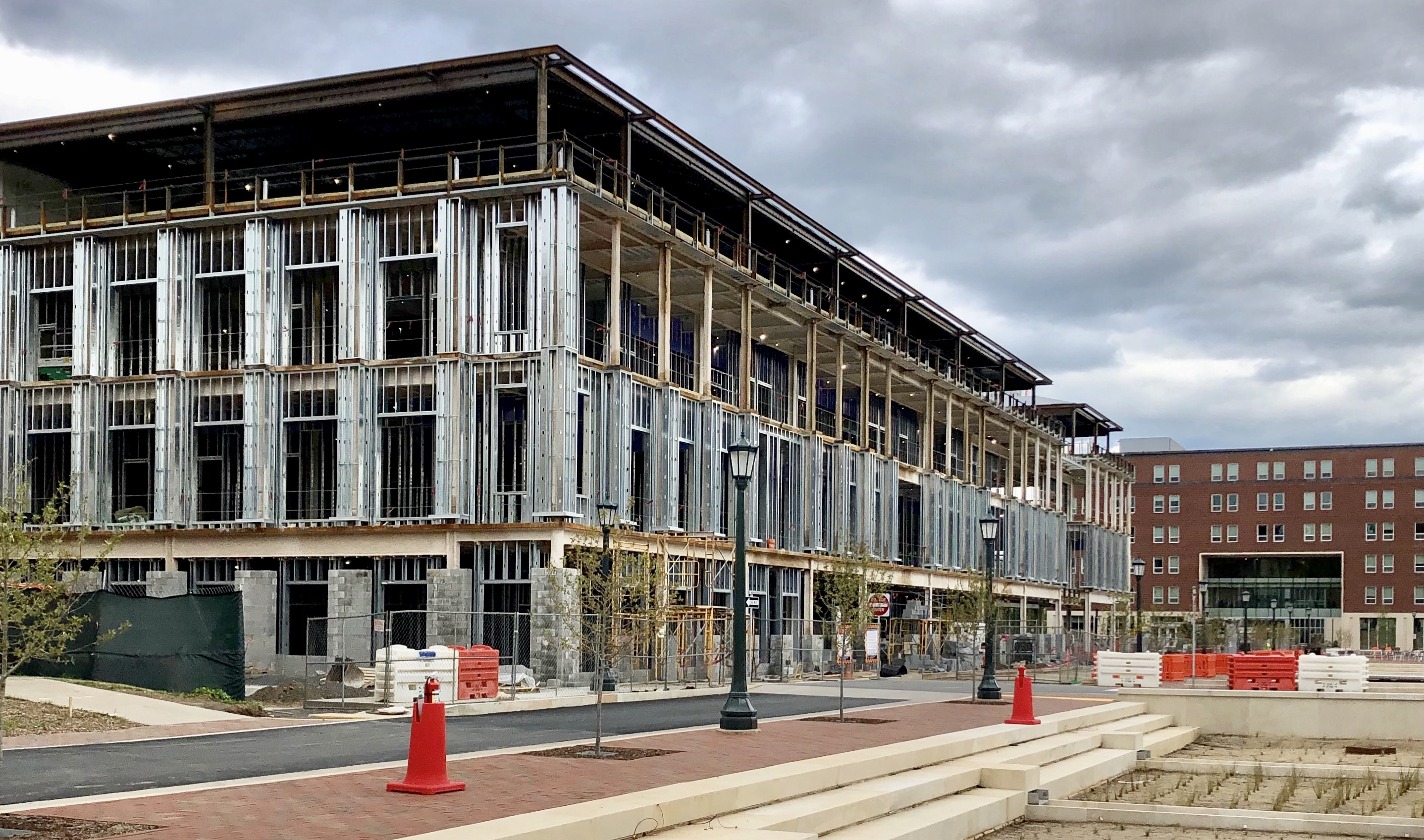 construction is visible, steal beams showcase four floors
